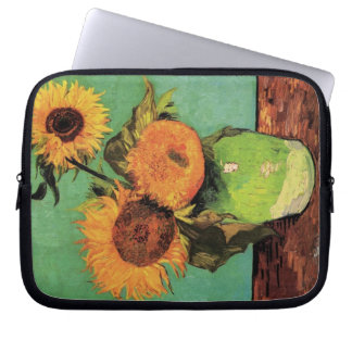 Van Gogh 3 Sunflowers in a Vase Vintage Fine Art Computer Sleeves