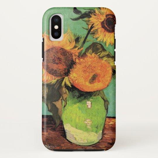 Van Gogh 3 Sunflowers in a Vase Vintage Fine Art iPhone X Case