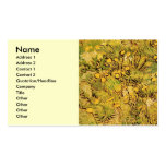 Van Gogh A Field of Yellow Flowers, Vintage Art Double-Sided Standard Business Cards (Pack Of 100)