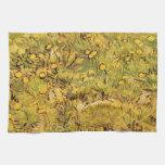 Van Gogh A Field of Yellow Flowers, Vintage Art Towel