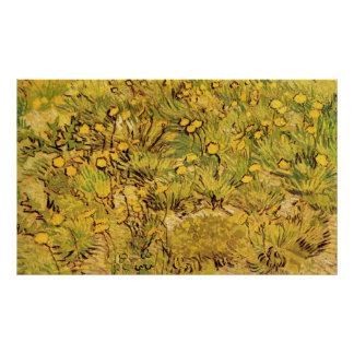 Van Gogh A Field of Yellow Flowers, Vintage Art Print