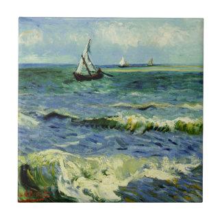 Van Gogh - A Fishing Boat at Sea Ceramic Tile