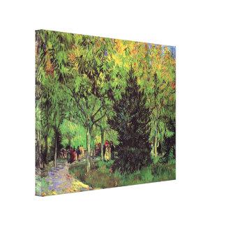 Van Gogh - A Lane In The Public Garden At Arles Canvas Print