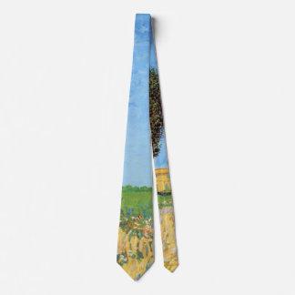 Van Gogh A Lane Near Arles, Vintage Fine Art Tie