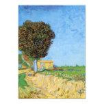 Van Gogh A Lane Near Arles, Vintage Impressionism 5x7 Paper Invitation Card