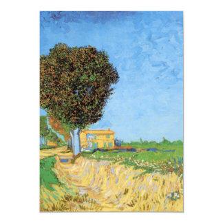 "Van Gogh A Lane Near Arles, Vintage Impressionism 5"" X 7"" Invitation Card"