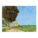 Van Gogh A Lane Near Arles, Vintage Impressionism Postcard