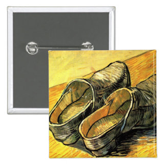 Van Gogh; A Pair of Leather Clogs 2 Inch Square Button