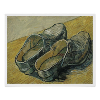 Van Gogh A Pair Of Leather Clogs Fine Art Painting Poster