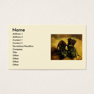 Van Gogh A Pair of Shoes, Vintage Still Life Art Business Card