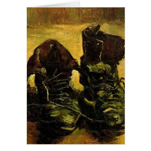 Van Gogh A Pair of Shoes, Vintage Still Life Art Greeting Card