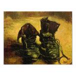 Van Gogh A Pair of Shoes, Vintage Still Life Art Invitation