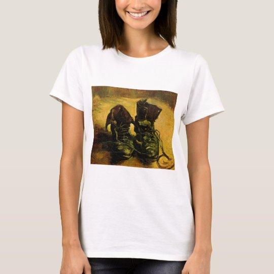 Van Gogh A Pair of Shoes, Vintage Still Life Art T-Shirt