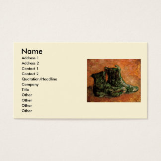 Van Gogh, A Pair of Shoes, Vintage Still Life Business Card