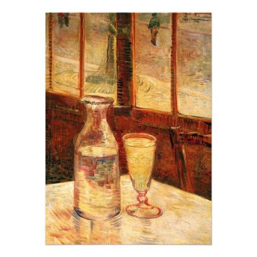 Van Gogh Absinthe Vintage Impressionism Still Life Invites