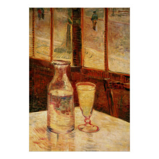 Van Gogh Absinthe Vintage Impressionism Still Life Poster