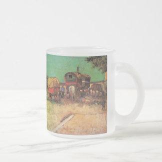 Van Gogh; Acampamento de gitanos con las caravanas Taza