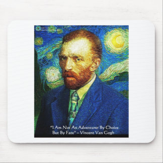 """Van Gogh """"Adventurer By Fate"""" Gifts Tees Mugs Etc Mouse Pad"""