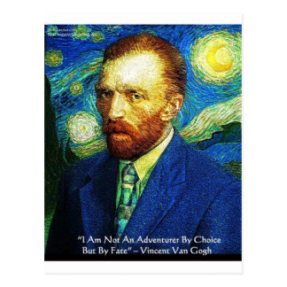 "Van Gogh ""Adventurer By Fate"" Gifts Tees Mugs Etc Postcard"