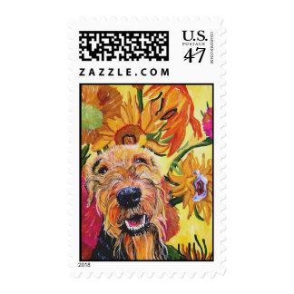 Van Gogh Airedale Postage