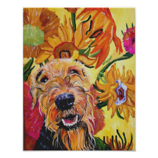 Van Gogh Airedale Poster