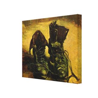 Van Gogh al par de zapatos todavía del vintage ar Impresión De Lienzo