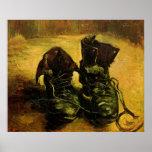 Van Gogh al par de zapatos, todavía del vintage Posters