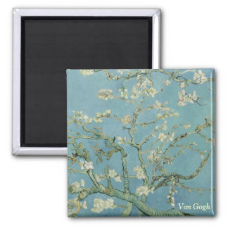 Van Gogh Almond blossom 2 Inch Square Magnet