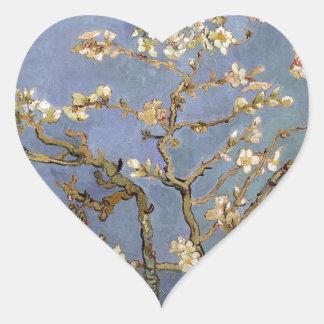 Van Gogh Almond Blossom Heart Sticker