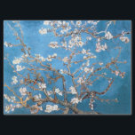 """VAN GOGH ALMOND BLOSSOM IN LAPIS BLUE TISSUE PAPER<br><div class=""""desc"""">Almond Blossoms are a series of paintings done by Van Gogh in the late 1800s while in the South of France. This version has been enhanced to bring out the brighter blue tones in the background. For a the wrapping paper option and a Cerulean blue version of this, and other...</div>"""