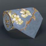 "Van Gogh Almond Blossom Tie<br><div class=""desc"">Vincent Van Gogh Nature Painting Series - Almond Blossom in Blue Tones</div>"