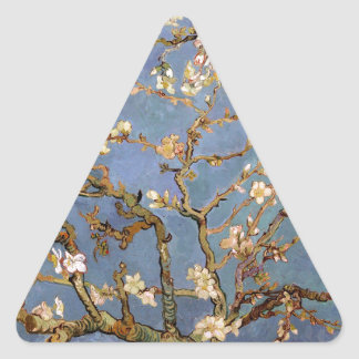 Van Gogh Almond Blossom Triangle Sticker