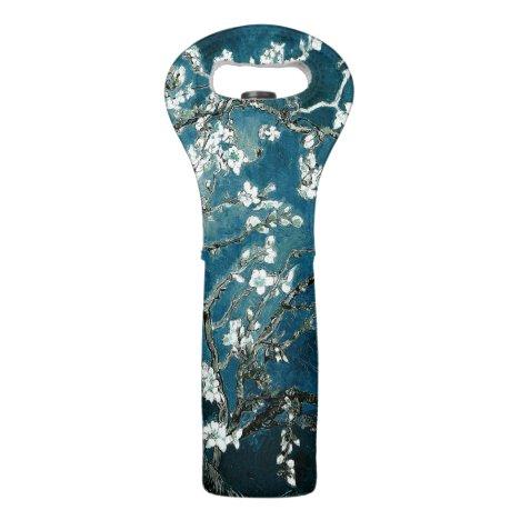 Van Gogh Almond Blossoms : Dark Teal Wine Bag