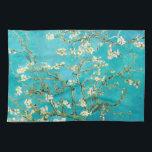 """VAN GOGH Almond Blossoms Kitchen Towel<br><div class=""""desc"""">""""van gogh"""",  vincent,  """"almond blossoms"""",  flowers,  """"famous painting"""",  vintage,  """"fine art"""",  floral,  blue</div>"""