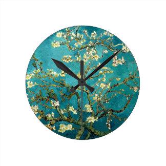 Van Gogh Almond Blossoms Tree Round Wallclocks