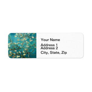 Van Gogh Almond Blossoms Tree Label