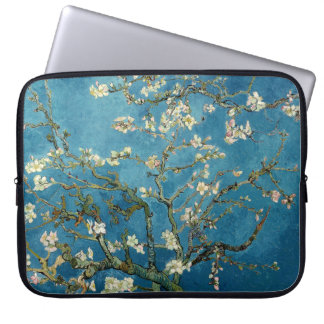 Van Gogh Almond Blossoms Vintage Floral Blue Computer Sleeve