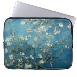 Van Gogh Almond Blossoms Vintage Floral Blue Computer Sleeves