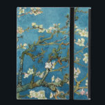"""Van Gogh Almond Blossoms Vintage Floral Blue iPad Cover<br><div class=""""desc"""">This is the oil painting &quot;Blossoming Almond Tree&quot; done in 1890 by Dutch post- impressionist artist Vincent Willem van Gogh (1853-1890).    It is our Fine Art Series no. 113. The source images for this series are original art created by lazyrivergreetings or vintage fine art and photography.</div>"""