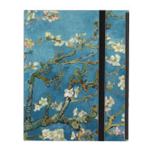 Van Gogh Almond Blossoms Vintage Floral Blue iPad Cover