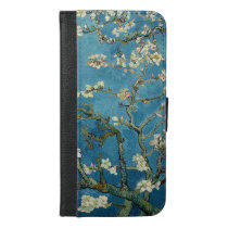 Van Gogh Almond Blossoms Vintage Floral Blue iPhone 6/6s Plus Wallet Case