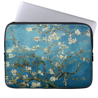 Van Gogh Almond Blossoms Vintage Floral Blue Laptop Sleeve