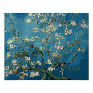 Van Gogh Almond Blossoms Vintage Floral Blue Poster