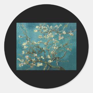Van Gogh Almond Branches in Bloom Round Stickers