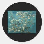 Van Gogh Almond Branches in Bloom Classic Round Sticker