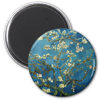 Van Gogh Almond Branches in Blossom 2 Inch Round Magnet