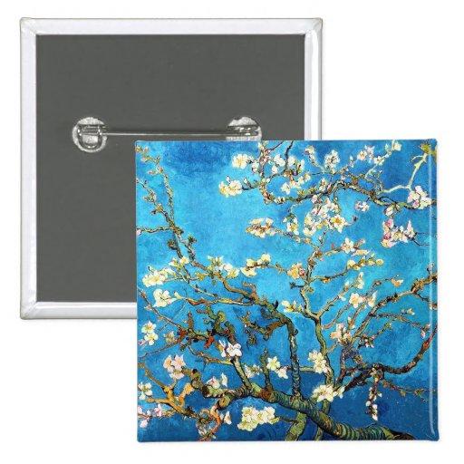 Van Gogh Almond Branches Post-Impressionism Pinback Button