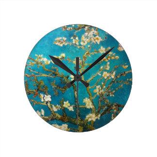 Van Gogh Almond Tree Round Wall Clock