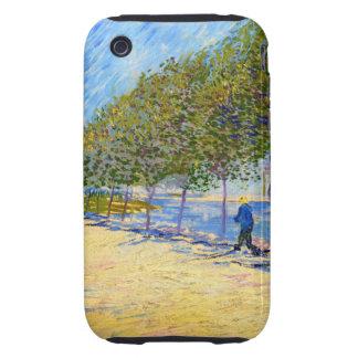 Van Gogh Along the Seine Tough iPhone 3 Case