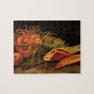 Van Gogh Apples Meat Roll Vintage Still Life Art Jigsaw Puzzle